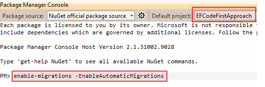 enable migrations nuget command