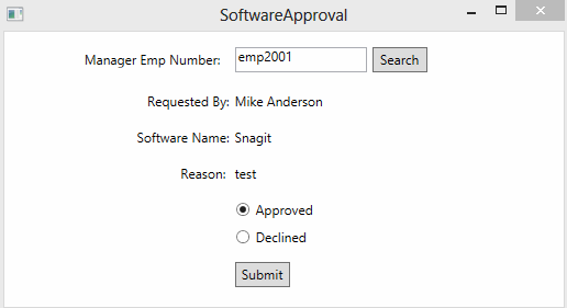 software approval screen