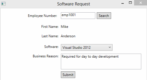 software request screen